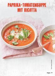 Rezept - Paprika-Tomatensuppe mit Ricotta - Simply Kochen Suppen & Eintöpfe 01/2018