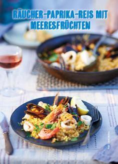 Rezept - Räucher-Paprika-Reis mit Meeresfrüchten - Simply Kochen Mediterran 05/2018