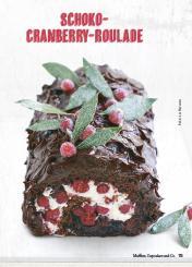 Rezept - Schoko-Cranberry-Roulade - Simply Kochen Special Weichnachtsgebäck - 01/2018