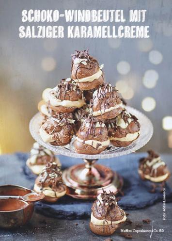 Rezept - Schoko-Windbeutel mit salziger Karamellcreme - Simply Kochen Special Weichnachtsgebäck - 01/2018