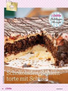 Rezept - Schokoladen-Schichttorte mit Schuss - Das große Backen - 09/2018