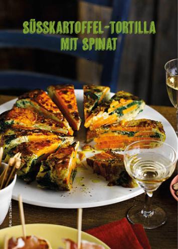 Rezept - Süßkartoffel-Tortilla mit Spinat - Simply Kochen Mediterran 05/2018