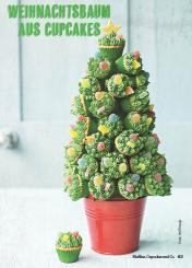 Rezept - Weihnachtsbaum aus Cupcakes - Simply Kochen Special Weichnachtsgebäck - 01/2018
