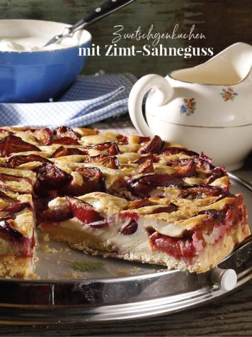 Rezept - Zwetschgenkuchen mit Zimt-Sahneguss - Simply Kreativ Äpfel-und Pflaumen-Rezepte für den Thermomix® 05/2018