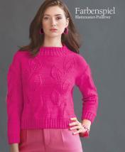 Strickanleitung - Farbenspiel - Blattmuster-Pullover - Designer Knitting - 06/2018