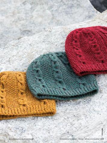 Strickanleitung - Mütze in drei Farben- Simply Stricken Müetzen + Schals & Accessoires - 01/2018