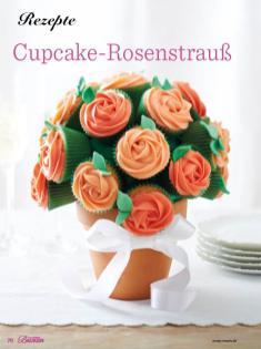 Rezept - Cupcake-Rosenstrauss - Das große Backen - 10/2018
