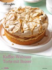 Rezept - Kaffee-Walnuss-Torte mit Baiser - Das große Backen - 10/2018