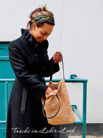 Häkelanleitung - Tasche im Leder-Look - Simply Kreativ - Nordisch Häkeln - 01/2019