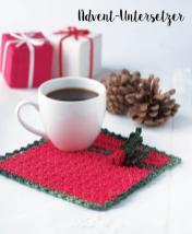 Häkelanleitung - Advent-Untersetzer - Mini Weihnachts-Deko Häkeln Vol. 5