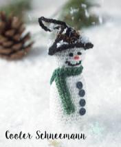 Häkelanleitung - Cooler Schneemann - Mini Weihnachts-Deko Häkeln Vol. 5