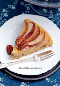 Rezept - Birnen-Pekannuss-Kuchen - Simply Kreativ - Vegan-Guide 01/2019