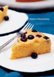 Rezept - Blaubeer-Polenta-Kuchen - Simply Kreativ - Vegan-Guide 01/2019