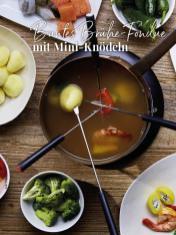Rezept - Buntes Brühe-Fondue mit Mini-Knödeln - Simply Kreativ Sonderheft Weihnachtsrezepte 01/2019