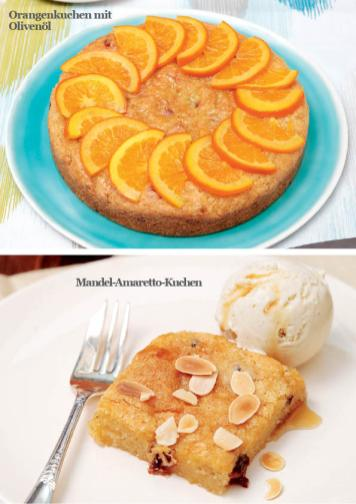 Rezept - Orangenkuchen mit Olivenoel / Mandel-Amaretto-Kuchen - Simply Kreativ - Vegan-Guide 01/2019