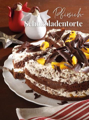 Rezept - Pfirsich-Schokoladentorte - Simply Kreativ Sonderheft Weihnachtsrezepte 01/2019