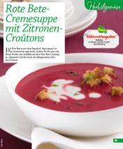 Rezept - Rote Bete-Cremesuppe mit Zitronen-Croutons - Simply Kochen mini – Rezepte für den Thermomix® 06/2018