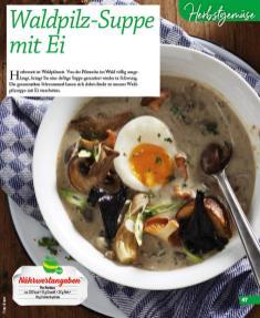 Rezept - Waldpilz Suppe mit Ei - Simply Kochen mini – Rezepte für den Thermomix® 06/2018