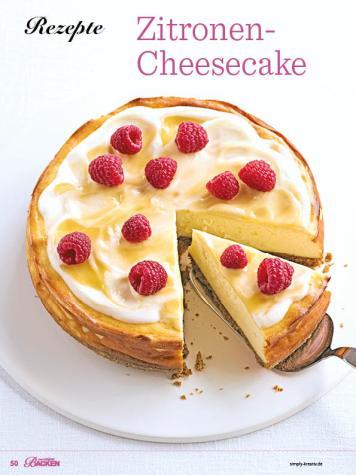 Rezept - Zitronen-Cheesecake - Das grosse Backen - 11/2018