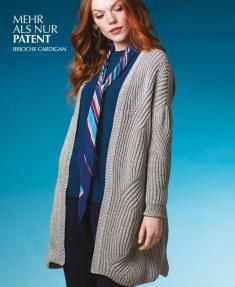 Strickanleitung - Mehr Als nur Patent - Brioche Cardigan - Designer Knitting 01/2019