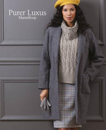 Strickanleitung - Purer Luxus - Mantelloop - Designer Knitting 01/2019
