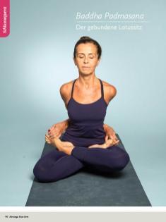 Yoga Anleitung - Baddha Padmasana - Sportplaner - Yoga Guide 01/2019