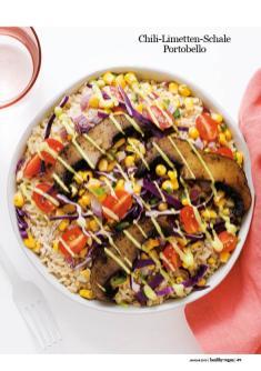Rezept - Chili-Limetten-Schale Portobello - Healthy Vegan 01/2019