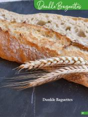 Rezept - Dunkle Baguettes - Simply Backen Sonderheft Brotdoc Vol. 2 - Heft 02/2019