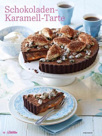 Rezept - Schokoladen-Karamell-Tarte - Das große Backen - 12/2018