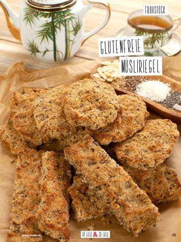 Rezept - Glutenfreie Müsliriegel - Simply Kochen Sonderheft Detox 01/2019