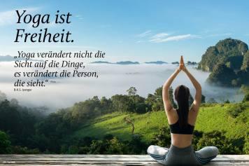 Yoga ist Freiheit - Sportplaner Yoga-Guide Retreats 02/2019