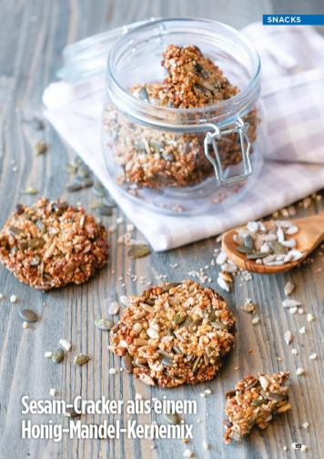 Rezept - Sesam-Cracker aus einem Honig-Mandel-Kernemix - Simply Kreativ Healthy Diät-Sonderheft - Keto-Diät - 01/2019