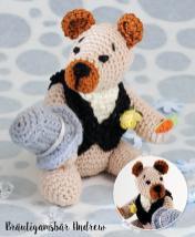 Häkelanleitung - Bräutigamsbär Andrew - Mini Häkeln Vol.6 – Teddybären 01/2019