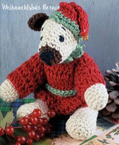 Häkelanleitung - Weihnachtsbär Bernie - Mini Häkeln Vol.6 – Teddybären 01/2019