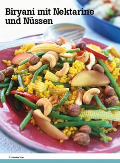Rezept - Biryani mit Nektarine und- Nüssen - Healthy Vegan Sonderheft - Vegan - 01/2019