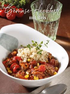 Rezept - Gemüse Hacktopf mit Reis - Simply Kreativ Thermomix® Diät Special 01/2019