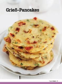 Rezept - Griess-Pancakes - Healthy Vegan Sonderheft - Vegan - 01/2019