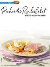 Rezept - Pochiertes Rinderfilet mit Zitronen-Senfsoße - Simply Kreativ Thermomix® Diät Special 01/2019