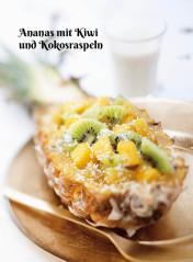 Rezept - Ananas mit Kiwi und Kokosraspeln - Simply Kochen Sonderheft Zuckerfrei 01/2019
