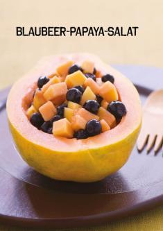 Rezept - Blaubeer-Papaya-Salat - Simply Kochen Sonderheft Paleo-Diät 01/2019