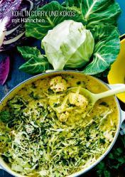 Rezept - Kohl in Curry und Kokos mit Hähnchen - Simply Kochen Sonderheft Körper ohne Entzündungen 01/2019
