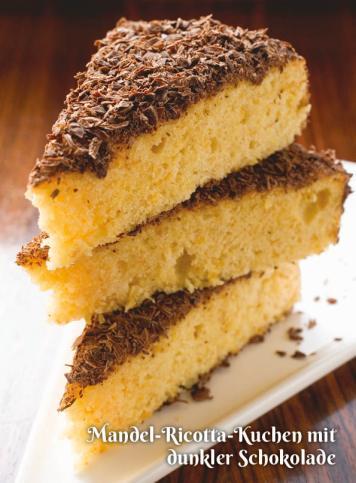 Rezept - Mandel-Ricotta-Kuchen mit dunkler Schokolade - Simply Kochen Sonderheft Zuckerfrei 01/2019