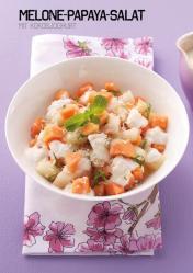 Rezept - Melone-Papaya-Salat mit Kokosjoghurt - Simply Kochen Sonderheft Paleo-Diät 01/2019