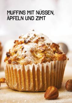 Rezept - Muffins mit Nüssen, Äpfeln und Zimt - Simply Kochen Sonderheft Paleo-Diät 01/2019