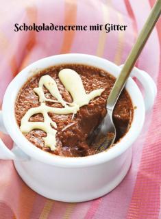 Rezept - Schokoladencreme mit Gitter - Simply Kochen Sonderheft Zuckerfrei 01/2019