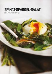 Rezept - Spinat-Spargel-Salat mit pochiertem Ei - Simply Kochen Sonderheft Paleo-Diät 01/2019