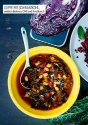 Rezept - Suppe mit Schwarzkohl, weißen Bohnen, Chili und Knoblauch - Simply Kochen Sonderheft Körper ohne Entzündungen 01/2019