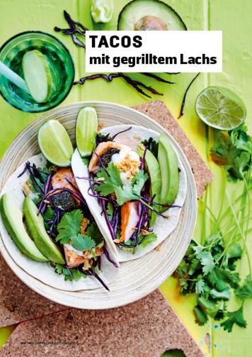 Rezept - Tacos mit gegrilltem Lachs - Simply Kochen Sonderheft Körper ohne Entzündungen 01/2019