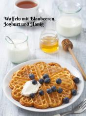 Rezept - Waffeln mit Blaubeeren-Joghurt und Honig - Simply Kochen Sonderheft Zuckerfrei 01/2019