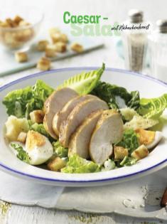 Rezept - Caesar-Salat mit Hähnchenbrust - Simply Kochen Sonderheft - Frühlingssalate